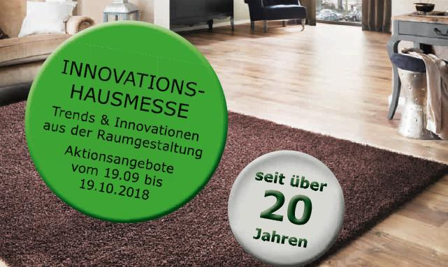 Innovations-Hausmesse vom 19. September bis zum 19. Oktober 2018